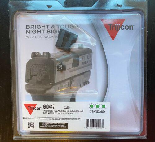 Trijicon 600442 SA37 Night Sights Dot Front & Rear S&W M&P Novak - New