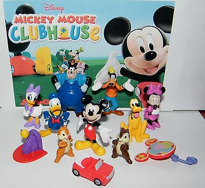 Disney Mickey Mouse Clubhouse Figure Set Of 12  Donald Goofy  Car  Chip Etc