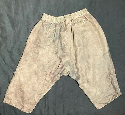 By Walid Men's Silk & Cotton Paisley Overdyed Drop Crotch Short Size XL (Fit L)