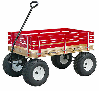 AMISH BEACH & GARDEN WAGON w 6½ Wide Off Road Tires * 4 Color Choices * USA Made