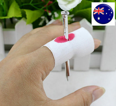 Party Halloween Prank Joke Scary Blood Nail Finger Through Trick Favors Gift](Scary Halloween Pranks Party)
