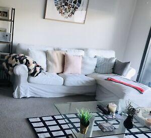 IKEA 3 seater sofa with lounge