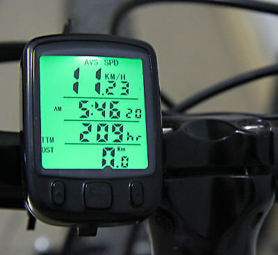 Digital Speedometer Odometer LCD Waterproof Bike Bicycle Cycling Computer Speedo