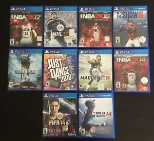 Previously played PS4 video games