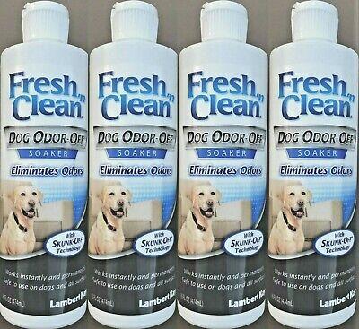4 Pk Lambert Kay FRESH 'n CLEAN Dog Odor Off Soaker Eliminates Deodorizer =64 Oz