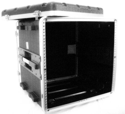 """Rack Case 10U Space Light Weight Amp Effects ABS 16.5"""" Deep Shell w rack screws"""