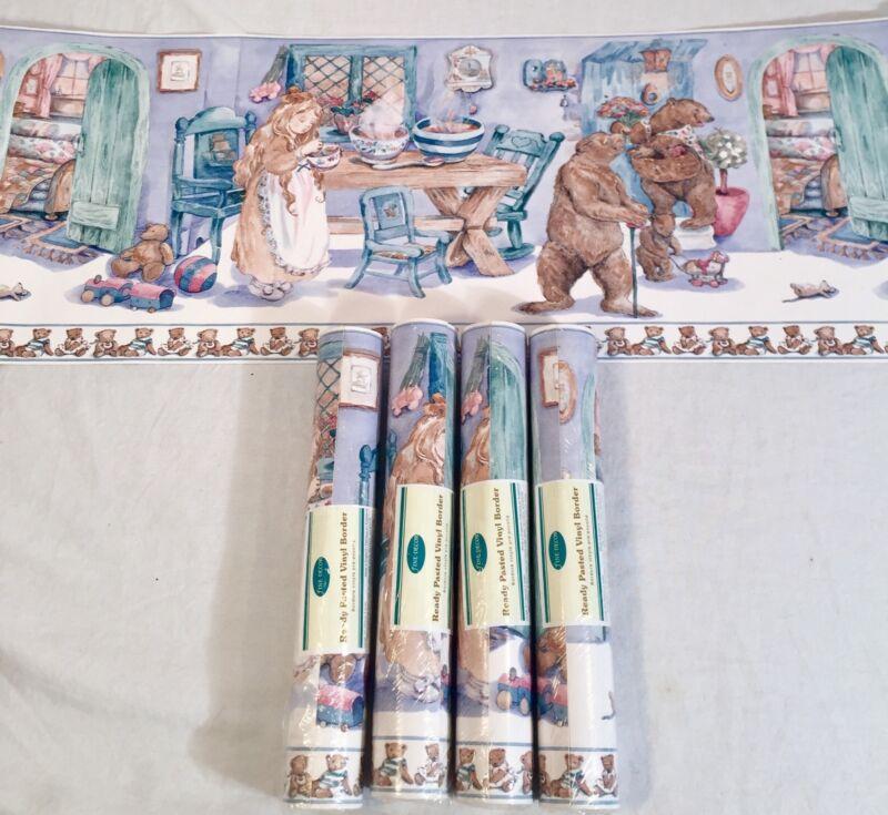 Wallpaper Border Nursery Tale Story Book Goldilocks 3 Bears Teddy Vinyl 5 Rolls