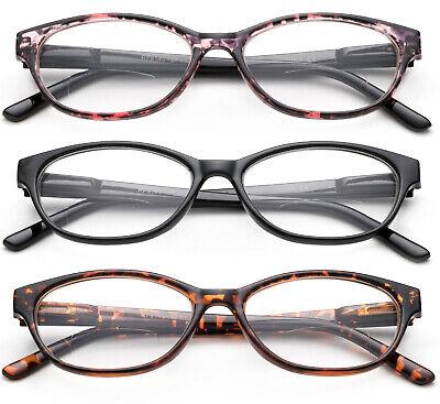Cateye Bifocal Reading Glasses Women Plastic Frame Readers Oval Light Weight (Bifocal Reading)