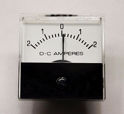 Jewel Model Ms1t -2ajewel Ms1t - 2 Amp Dc Analog Panel Meter - New Old Stock