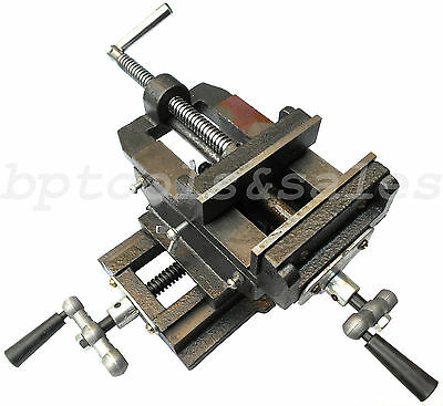 "5"" Cross Drill Press Vise Slide Metal Milling 2 Way X-y Clam"