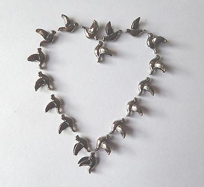 25x Perlen Perle Vogel Taube Tier Hochzeit Tibetsilber 13x11mm Schmuck Basteln
