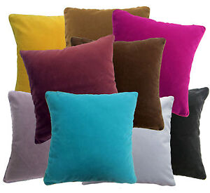Plain-Color-Flat-Cotton-Blend-Velvet-Style-Cushion-Cover-Pillow-Case-Custom-Size