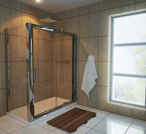 1200 x 700 Sliding Door Shower Enclosure with Tray and Waste