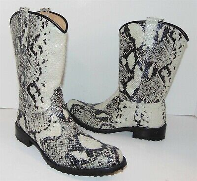 Andrea Montelpare Italy Snake Skin Leather Boots 39