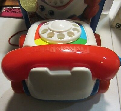 Classic Chatter Telephone - Fisher Price Classic Chatter Telephone Pull Toy with box