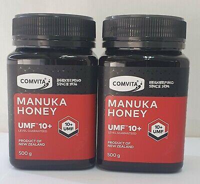 Comvita Manuka Honey UMF 10+ (500gm x 2)  BB 11/2/22 FREE POST. SAVE $139.95...