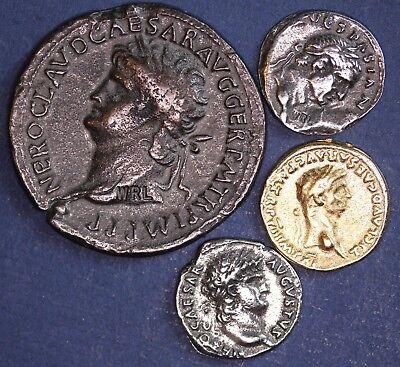4 REPRODUCTION Roman coins, Sestertius, Aureus, Denarius etc [4MRC]