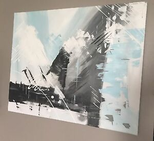 16 x 20 Canvas Painting(Blue, grey)