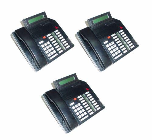 Lot of 3 Meridian/NT M2616 Business Phones w/Digital Display (Black) - No Cord