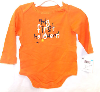 My First Halloween 1-Piece Infant Newborn 0-3 3-6 6-9 Months - Newborn First Halloween