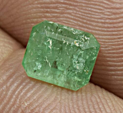 1.2 Carat Natural Faceted Emerald  Cut Gemstone From Panjsher Afghanistan