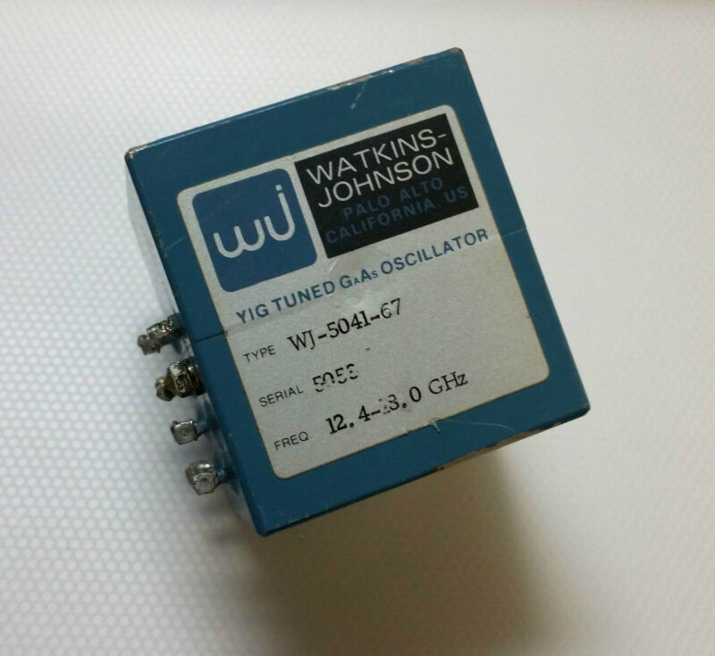 Watkins Johnson YIG Oscillator 12.4-18.0GHz