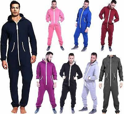 Mens jumpsuits One Piece Pajamas All in One Nightwear Non Footed Hooded Playsuit - Mans Onesie