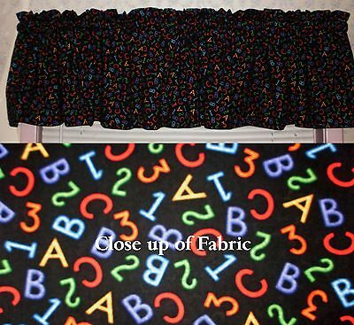 New Teacher Classroom School Children Daycare ABC 123 Center Valances Curtain ](Classroom Curtains)