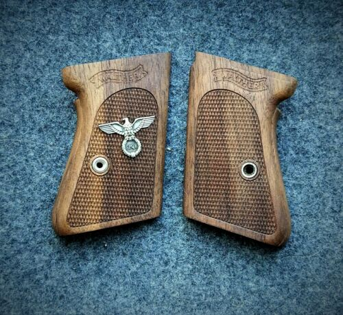 walther PPK  wood grip Roman Imperial symbolism.