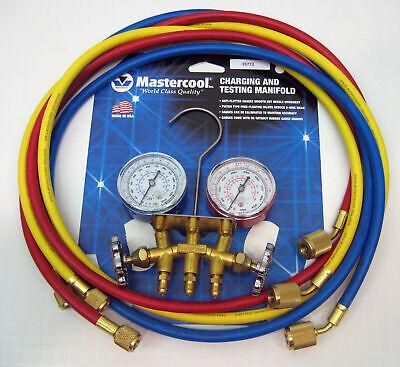35772 Mastercool Air Conditioning Hvac Refrigeration Manifold W 72 Hoses New