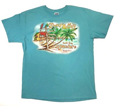 Jimmy Buffet Margaritaville T Shirt Songs From St. Somewhere Tour Sz L Blue