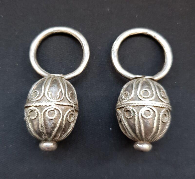 Morocco - pair of Berber hair ornament - Amazigh silver