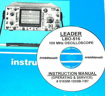 Leader Lbo-516 100mhz Oscilloscope Operating Service Manuals
