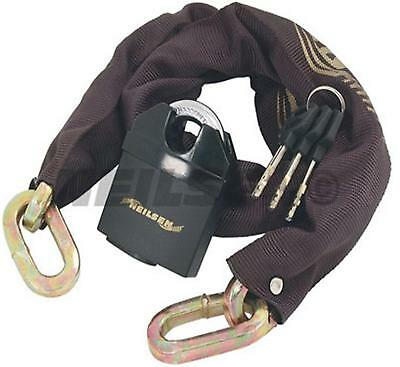 HEAVY DUTY CHAIN & PAD LOCK long padlock 1.8m THICK bike gate motorcycle 3 keys