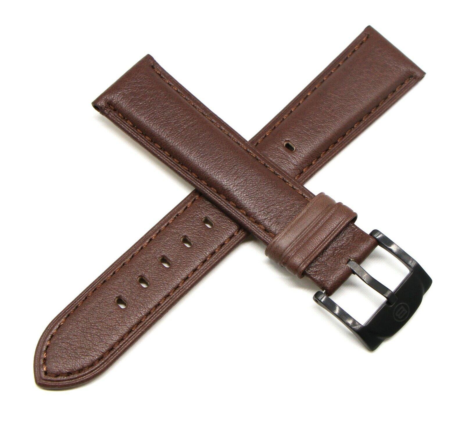 Ben & Sons Uhrenband 22 MM Echtleder Braun für Marshall