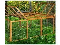 4ft Double Rabbit Hutch and Runs