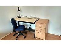 Perfect Student Study Setup - Desk, Chair, Drawer