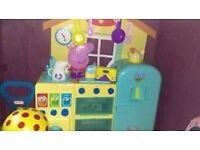 peppa pig kitchen with accessories