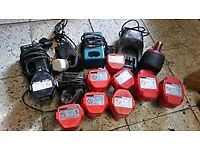 joblot batterys and chargers spares