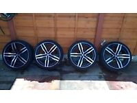 """19"""" 235 35Z R19 Alloys For Volkswagen bmw mercedes audi Nice Condition Size 235 35Z R19"""