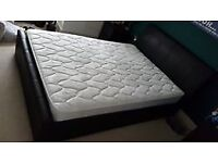Black Faux Leather Double Bed for Sale £50 ONO - Collection Only