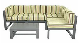 OUTDOOR RUN-OUT 5 PIECE OUTDOOR MODULAR LOUNGE – URBAN GREY Alexandria Inner Sydney Preview