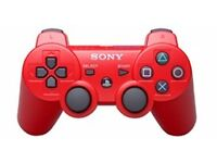 Brand New Sony PS3 wireless Bluetooth Controller Red & Blue with Usb