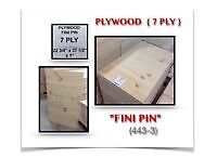 "(443-3)  LIQUIDATION..  PLYWOOD ""FINI PIN"" { 7 PLY } 5.99$ /ch."