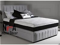Brand New Small Double Bed Base with Headboard.