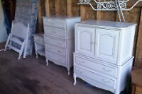 French Colonial Bedroom Set - White