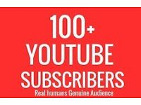 100+ YouTube subscribers//Real//Easy//Fast delivery!!!!