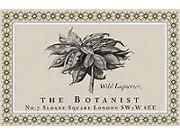 Commis Waiter - The Botanist Sloane Square - New Opening