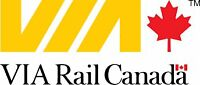 Via Rail Ticket from Toronto to Montreal: Oct 5, 2016