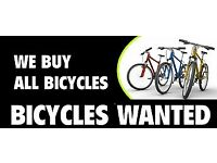 We buy bicycles for cash